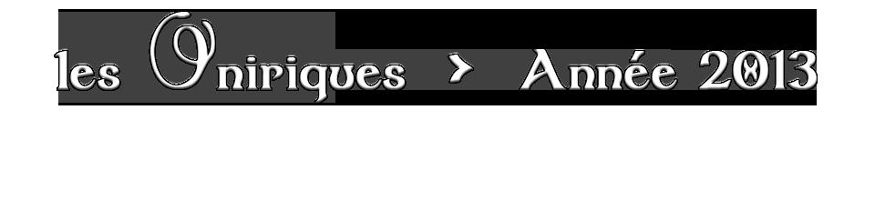 Programme du festival Les Oniriques